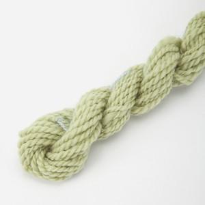 コリデール薄緑 ゲージ用糸サンプル (corri16)手紡ぎ毛糸オーダー