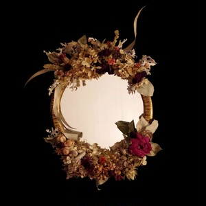 Dried flower mirror vintage Ⅰ