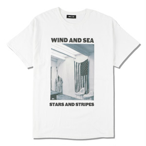 WDS (STARS AND STRIPES) PHOTO T-SHIRT (WDS-20A-CS-05) WIND AND SEA