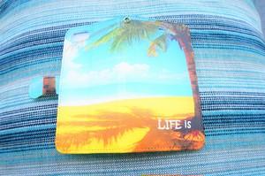 LIFE is BEACH BIGヤシ手帳型スマホケース iPhone5~8、Android(S,M)用