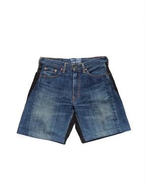 remake denim short pants (front denim)