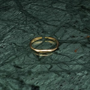 S925 IRREGULAR THIN RING GOLD 002
