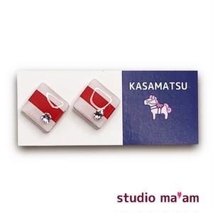 ■KASAMATSU-13 ピアス。しかく。〜イヤリング変更可〜
