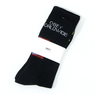 【OBEY】OBEY INDUSTRIES SOCKS (BLACK)