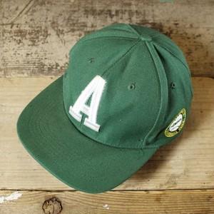 USA キャップ 帽子 アスレチックス Oakland Athletics 刺繍 グリーン 緑 フリーサイズ 古着 051320ss151
