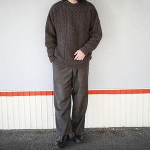 80's check wool slacks