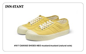 #817 CANVAS SHOES-NEO mustard/mustard(natural sole) INN-STANT インスタント 【税込・送料無料】