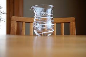 ガラス/銀の糸マーブルピッチャー/(ミルク)/空西あかね