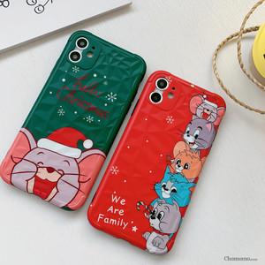【小物】キュートカートゥーンクリスマススマホケース25080622