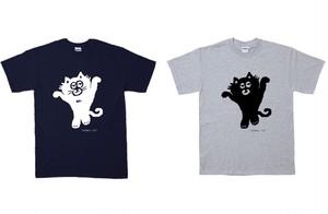 白ネコ,黒ネコT-Shrit