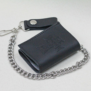 【DOGTOWN】SMALL TRIFOLD LEATHER CHAIN WALLET