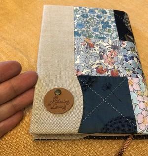 リバティ パッチワーク【ブックカバー】文庫サイズ