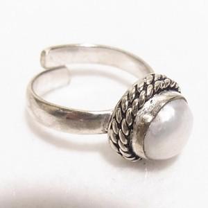 淡水真珠のフリーサイズリング  銀張りリング アクセサリーのセール通販 5010R