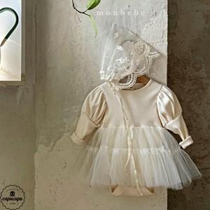 «予約»«bebe» monbebe princess suit 3colors プリンセス ベビースーツ