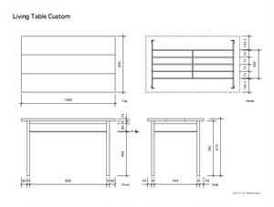 オーダーメイド アイアンとウォールナット材の棚付きテーブル