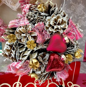 クリスマスリース♡ ピンクツイード