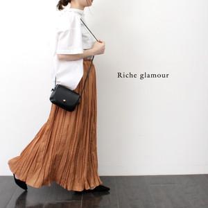 【EruMon】ワッシャープリーツスカート ランダムプリーツスカート プリーツロングスカート
