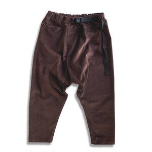 WCH Twisted Sarrouel Pants Corduroy -Brown