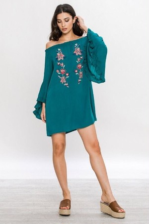 Ladys Off Shoulder Dress(LA Brand)