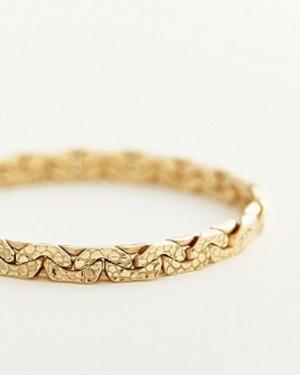 【sumikaneko】snake chain ring / yellow gold