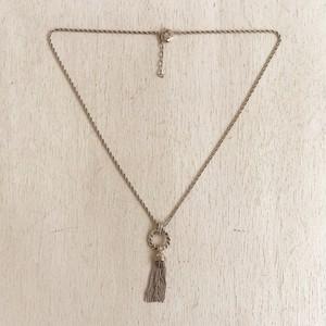 SONIA RYKIEL silver tassel necklace