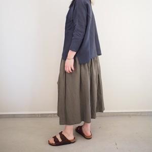 YAMMA リネンギャザースカート 20cmプラス ヤンマ産業