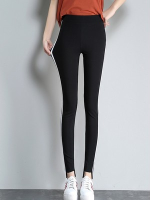 【bottoms】simple elastic tight pants