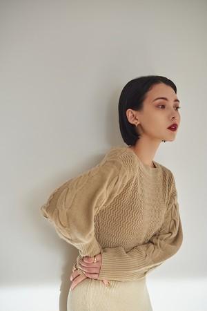 UNION KNIT DRESS (beige)