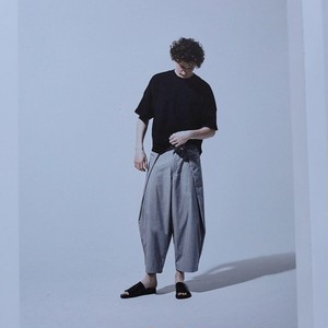 HARVESTY / big tuck pants