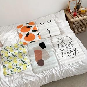 art foot mat 5types / アート 幾何学 フットマット バスマット ラグ カーペット ヌード オレンジ 韓国雑貨