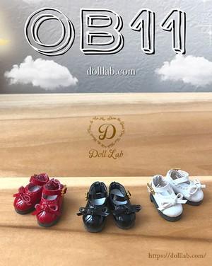 (Sofia) ソフィア エナメルリボン靴 オビツ11 ドール シューズ D2007-XXX-12
