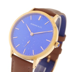 ROSSLING ロスリング 腕時計 メンズ レディース RO-003-002 クォーツ ブルー ブラウン