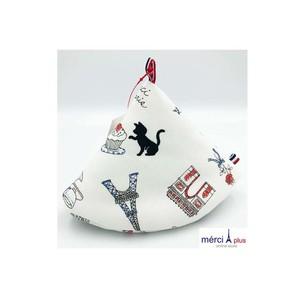 Grasp triangle pot /Mサイズ/フランス柄WH