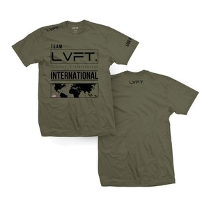 LIVE FIT International Tee- Olive / Black