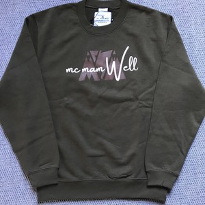 "New!!《送料込》McMamWell Print Sweat ""Army Green"""