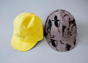 【21SS】ミチリコ(michirico) michirico reversible cap【チャコール×イエロー】 キャップ