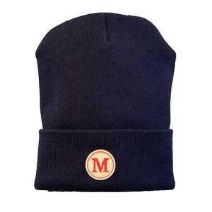 MONSE Embroidered 'M' Beanie NAVY