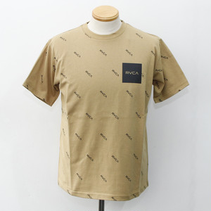ALL OVER SQUARE RVCA TEE (BEIGE)