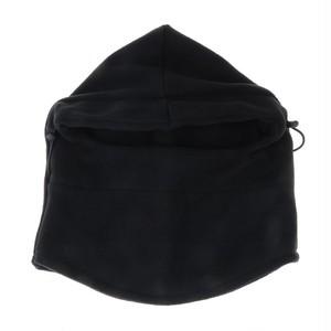 多機能 防寒フリースマスク 6WAY フェイスマスク・ネックウォーマー・帽子 ユニセックス 男女兼用 ブラック gnab017