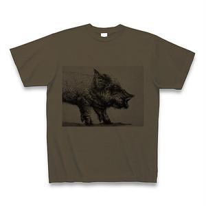 Tシャツ「ヤケ豚」オリーブ