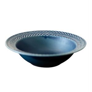 波佐見焼 翔芳窯 ローズマリー リムボウル 皿 17.5cm デニム