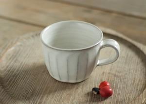 白釉コーヒーカップ(面)