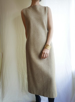 JIL SANDER Wool No-Sleeve Dress