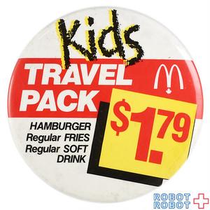 マクドナルド 缶バッジ キッズトラベルパック