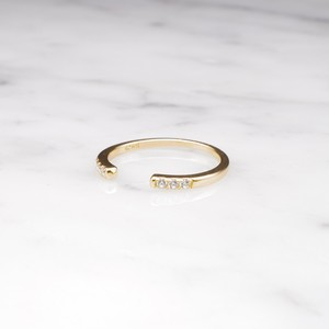 S925 TINY ZIRCONIA RING GOLD