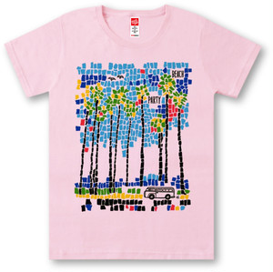 #398 Tシャツ BEACH PARTY/PNK