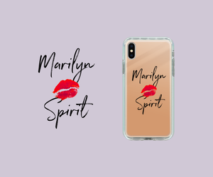 Marilyn Spirit  iPhoneX/8/8plus/7/7plus キスマーク 可愛い オシャレ マリリン ミラーケース
