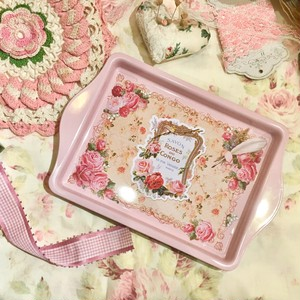 Tin tray /Rose A