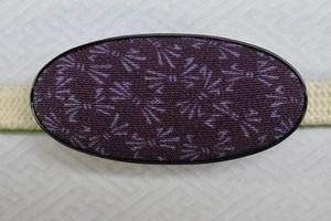 江戸小紋 帯留め 「たばねのし」 薄紫目濃紫地