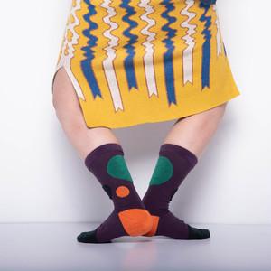 【Goodpair Socks】MY INNER BEAUTY・リバーシブルソックス/パープル